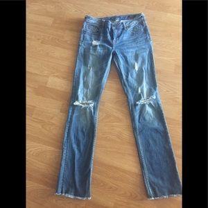 Vigoss jagger distressed straight jeans size 27